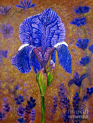 Painting - Iris Botanical Delight by Kimberlee Baxter