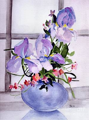 Iris Bouquet Art Print by Ann Gordon