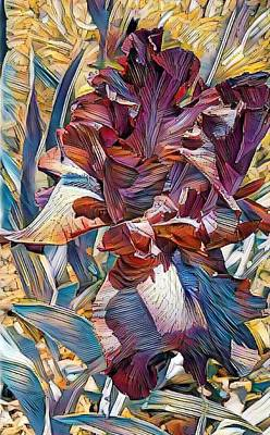 Digital Art - Iris by Caryl J Bohn