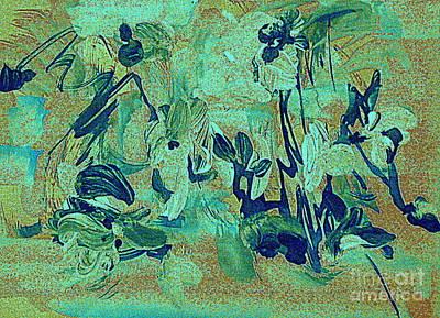 Digital Art - Iris Casually In Blue by Nancy Kane Chapman