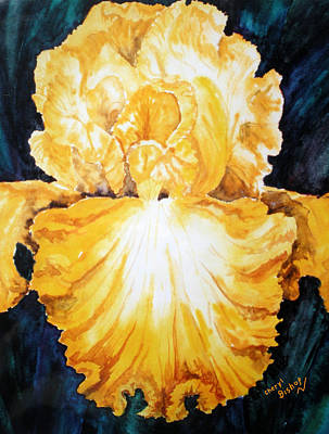 Wall Art - Painting - Iris by Cheryl Bishop