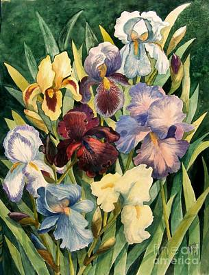 Blue Iris Painting - Iris Collection by Marilyn Smith