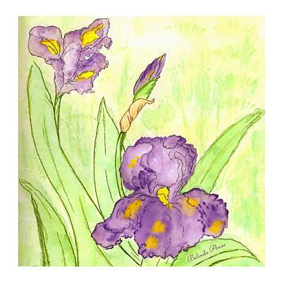 Belinda Landtroop Paintings - Iris Couple by Belinda Landtroop