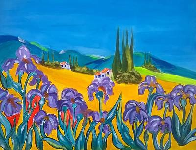 Painting - Iris De Provence by Rusty Woodward Gladdish