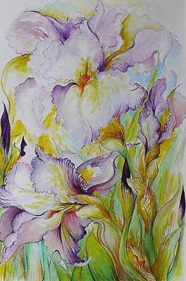 Painting - Iris Delight by Barbara Anna Cichocka