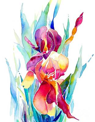 Painting - Iris Designz by Jo Lynch
