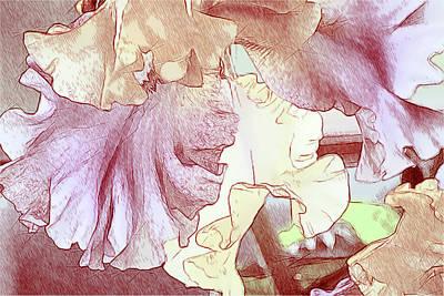 Digital Art - Iris Drawing In Color by Bonnie Willis