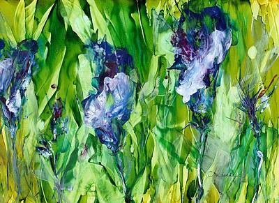 Mixed Media - Iris Explosion by Cynthia Matthews