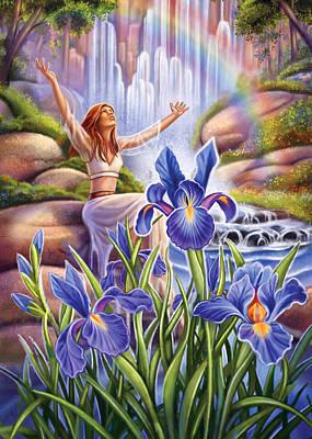 Painting - Iris - Fine Tune by Anne Wertheim