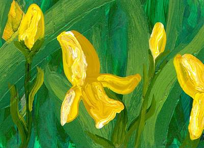 Iris Flow Art Print by Wanda Pepin