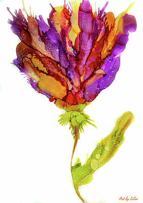 Painting - Iris Flower 2 by Lilia D