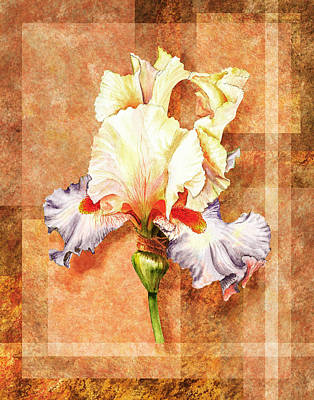 Painting - Iris Flower Decor by Irina Sztukowski