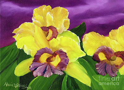Painting - Iris Flowers by Maria Williams