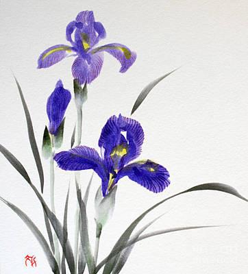 Painting - Iris by Fumiyo Yoshikawa