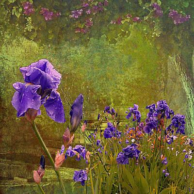 Iris Garden Art Print by Jeff Burgess