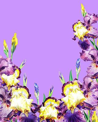 Royalty-Free and Rights-Managed Images - Iris Garden Lilac Skies by Irina Sztukowski