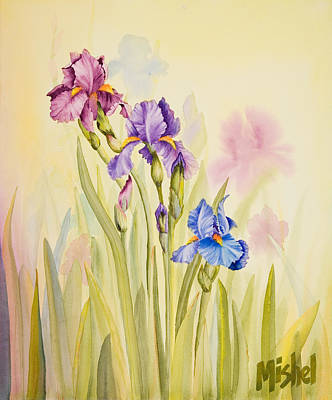 Painting - Iris Garden Ll by Mishel Vanderten