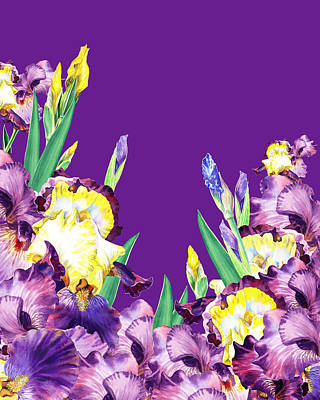 Royalty-Free and Rights-Managed Images - Iris garden Purple Sky by Irina Sztukowski