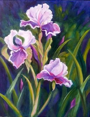 Painting - Iris Gardens by Rosie Sherman