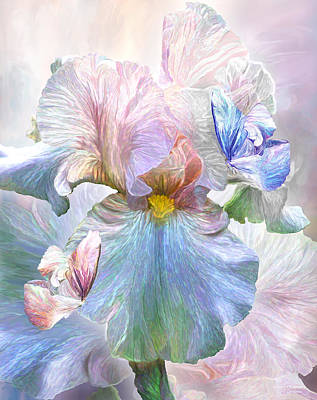 Iris - Goddess Of Serenity Art Print by Carol Cavalaris
