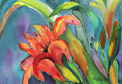 Painting - Iris Growing Wild by Marsha Woods