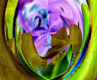 Digital Art - Iris In Coals by James Granberry