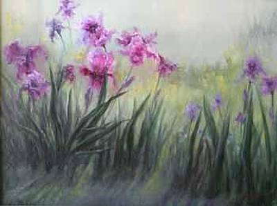Painting - Iris In Morning Shadows by Rene Hart
