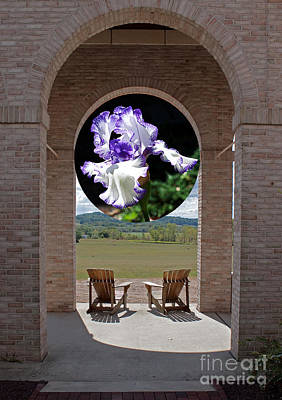 Iris In Portico Art Print by Robert Sander