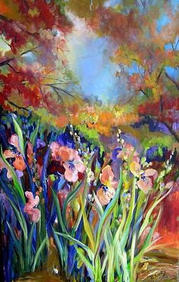 Painting - Iris In The Fall by Elaine Cory