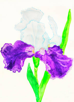 Painting - Iris In White And Violet Colours by Irina Afonskaya