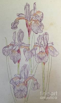 Painting - Iris Incomplete Complete by Randol Burns