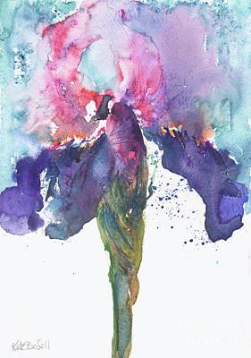 Iris Inspiration Art Print by Kate Bedell