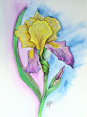 Painting - Iris by Lorah Tout