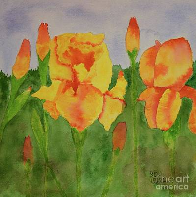 Painting - Iris Love by Barrie Stark