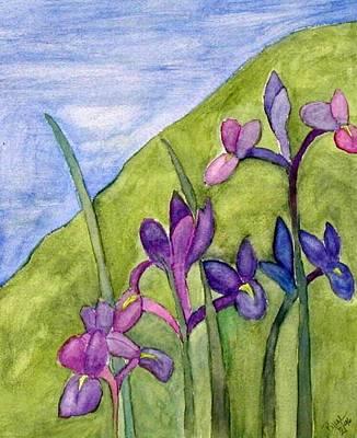 Iris Meadow Art Print by Margie  Byrne