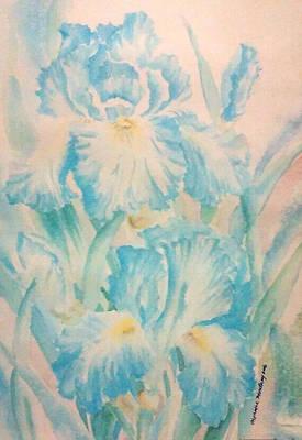 Painting - Iris by Monique Montney