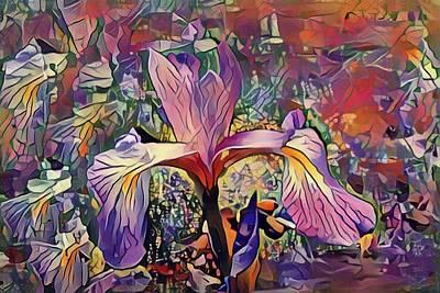 Mixed Media - Iris Oh Iris  by Don Wright