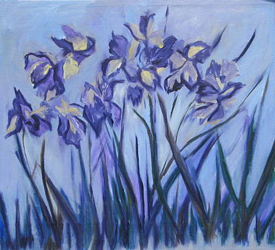 Iris Painting Two Art Print by Betty Pieper