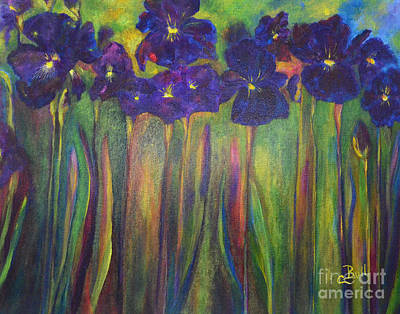 Painting - Iris Parade by Claire Bull