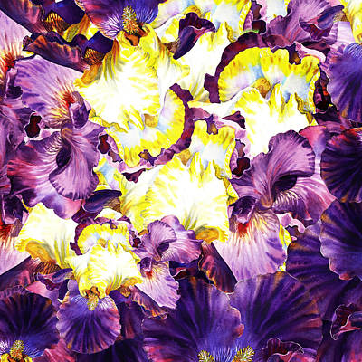 Painting - Iris Petals Abstract by Irina Sztukowski