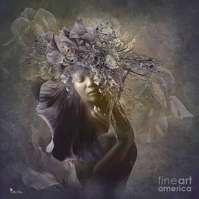 Digital Art - Iris Queen by Ali Oppy