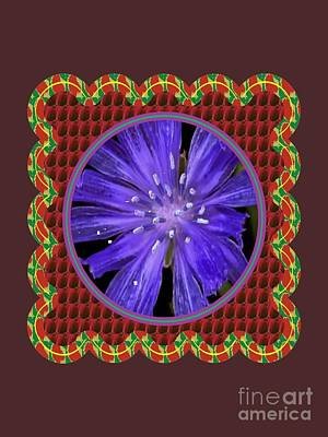 Christmas Patents Rights Managed Images - Iris reticulata Purple Gem Flower Floral Photography n Graphic fusion art NavinJoshi FineArtAmerica  Royalty-Free Image by Navin Joshi