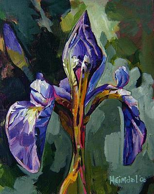Art Print featuring the painting Iris Snow by Tim  Heimdal