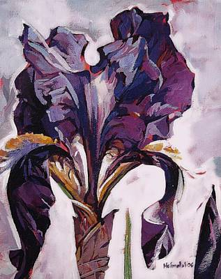 Art Print featuring the painting Iris Spring by Tim  Heimdal
