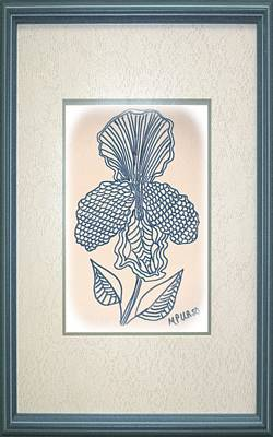 Drawing - Iris-tangle 15-01 by Maria Urso