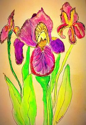 Painting - Iris Trio by Anne Sands