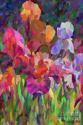 Irises 2 Print by Dragica Micki Fortuna