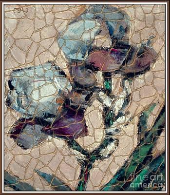 Flower Still Life Mixed Media - Irises 3 by Pemaro
