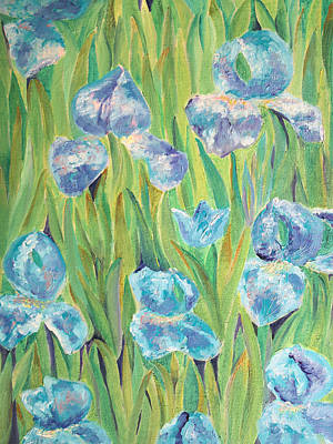 Painting - Irises by Elizabeth Lock