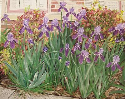Arkansas Painting - Irises Fort Smith Art Center by Sharon  De Vore